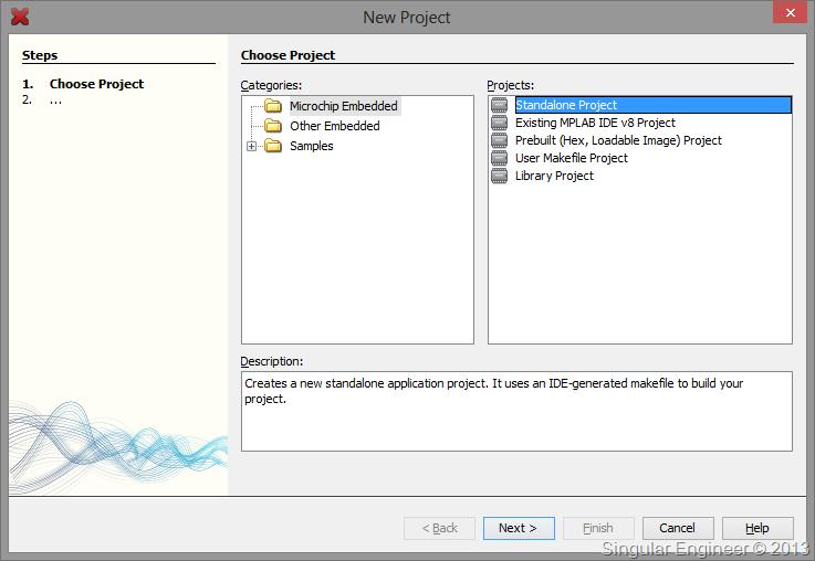 Singular Engineer » Programming PIC 18 using XC8 (MPLAB X) : Setting